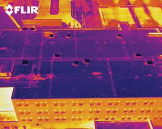 Тепловизионное обследование крыш домов
