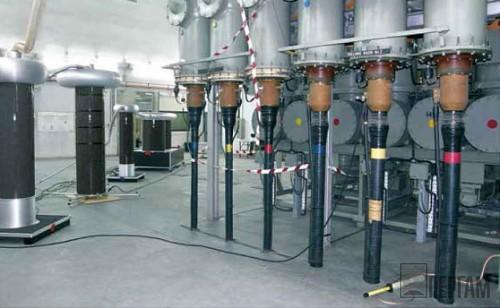Система DAC HV40 (для кабелей до 500 кВ) при испытаниях высоковольтной кабельной системы е Сингапуре