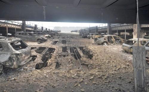 Сгоревшая парковка