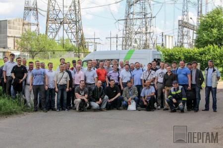 Финальное фото после демонстрации лаборатории Baur titron