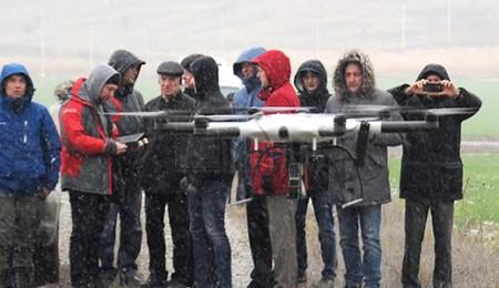 Демонстрация БПЛА с детектором метана