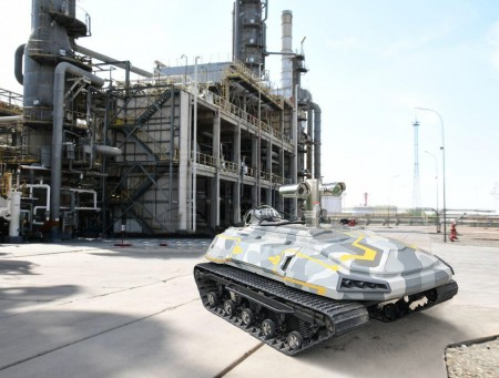 Детектор метана на роботизированной платформе