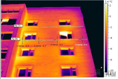 Тепловизионное обследование квартир девятиэтажного дома