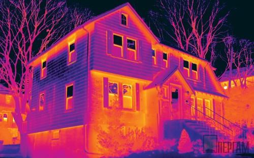 Тепловизионное обследование дома из профилированного бруса