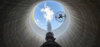 Инспекция атомной электростанции при помощи дрона Elios