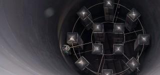 Обследование газовых турбин системой телеинспекции на базе противоударного квадрокоптера Elios