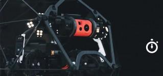 Время полёта промышленного дрона Elios 2 для внутренних инспекций