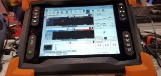 Испытания дефектоскопа Reddy с вихретоковыми матрицами