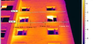 Тепловизионный контроль ограждающих конструкций квартир 9-ти этажного жилого дома.