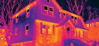 Обнаружение источников потери тепла в домах из профилированного бруса