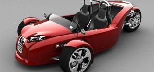 Трёхколесный автомобиль, созданный с помощью технологии 3D сканирования