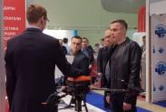 Кудрявцев Святослав демонстрирует квадрокоптер