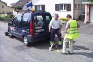 Пергам Швейцария обследуют пригород на предмет утечек метана