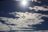 В небе над полигоном Алабино