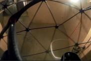 Дрон обследует помещение возле реактора