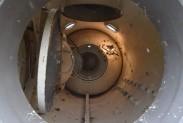 Квадрокоптер Elios в газовом резервуаре