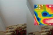 Тепловизор: в стене скрытый строительный дефект