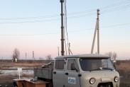 Метаноискатель ДЛС-КС на мобильной мачте