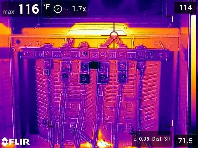 Термограмма с FLIR E96
