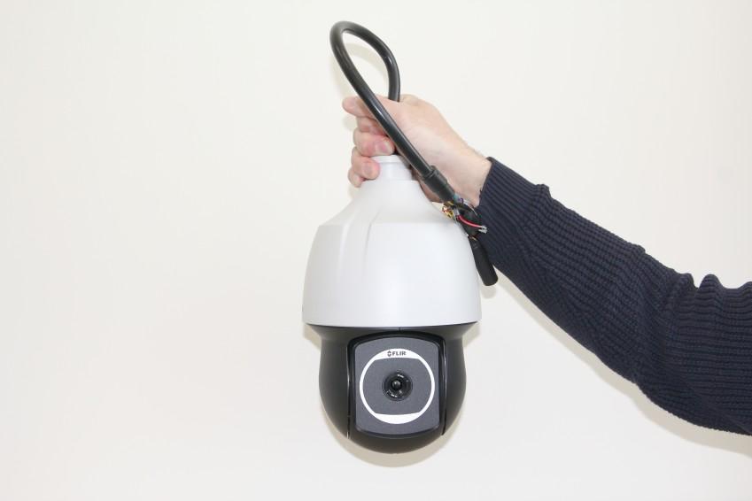 Охранный подвесной тепловизор
