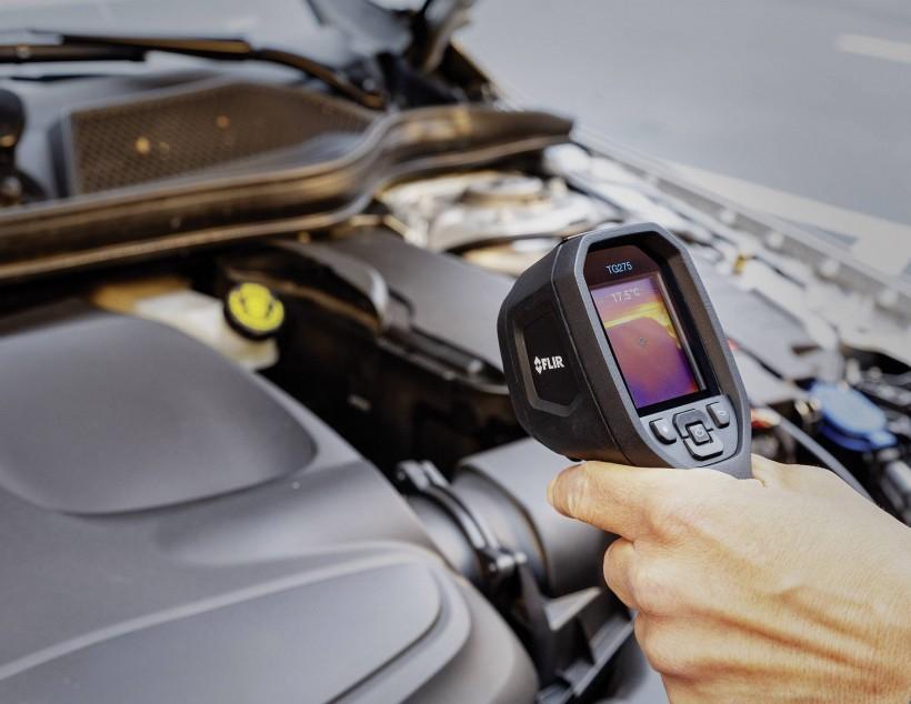Обследование авто тепловизором FLIR TG275