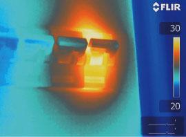 ИК-изображение перегретого предохранителя