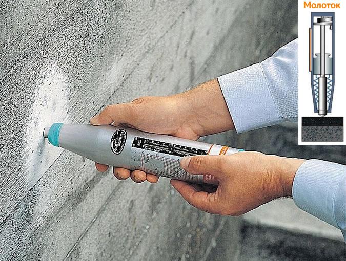 Проверка прочности бетона чеком бетон